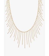 Gold Tone Chain Statement Necklace