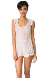 For Love And Lemons Emmy Romper Pin Stripe