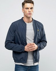 Lyle And Scott Nylon Bomber Jacket In Navy Navy