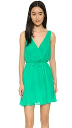 Cupcakes And Cashmere Hudson Wrap Dress Leaf Green