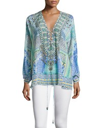 Camilla Long Sleeve Lace Up Shirt Sultans Gate