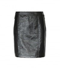Marc By Marc Jacobs Faux Leather Miniskirt Black