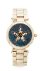 Marc Jacobs Dotty Pave Star Watch Gold Navy