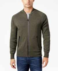 Barbour Men's Heathered Zip Front Sweater Green