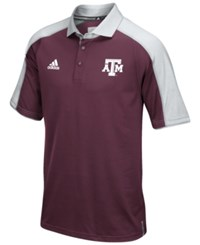 Adidas Men's Texas A And M Aggies Sideline Polo Shirt Maroon Gray