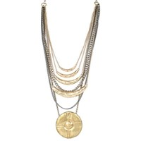 Laura Cantu Jewelry Half Moon And Circle Pendant Necklace Gold