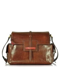 The Bridge Icons Marrone Leather Shoulder Bag Brown