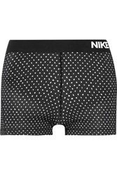 Nike Pro Cool Dri Fit Printed Stretch Jersey Shorts Black
