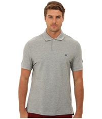 Original Penguin Daddy O Polo Rain Heather Men's Short Sleeve Pullover Gray