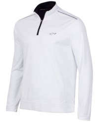 Greg Norman For Tasso Elba Men's 1 4 Zip Golf Pullover Bright White