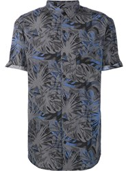 Neuw Palm Tree Print Shirt Blue