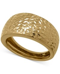 Macy's X Cut Wide Band Ring In 14K Gold