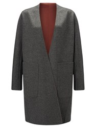 Jigsaw Double Faced Sculpted Coat Volcanic Pink