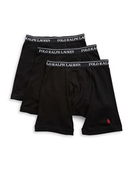 Polo Ralph Lauren Three Pack Classic Cotton Boxer Briefs Black