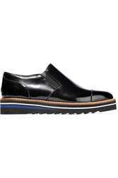 Vince Alona Patent Leather Platform Loafers Black