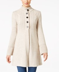 Styleandco. Style Co. Petite Mock Neck Sweater Coat Only At Macy's Warm Ivory