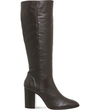 Office Kan Kan Knee High Leather Boots Brown Leather