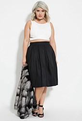 Forever 21 Plus Size Pleated A Line Skirt Black