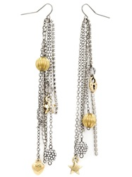 Vera Wang Charm Detail Earrings Metallic