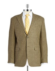 Lauren Silver Wool Blazer Brown