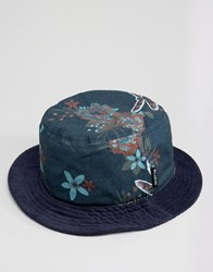 Billabong Floral Bucket Hat Navy