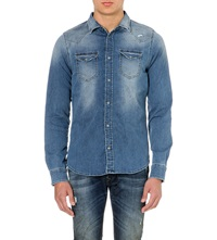 Diesel Sonora Denim Shirt Blue