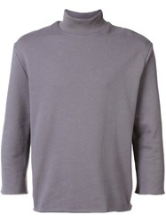 Bristol High Neck T Shirt Grey