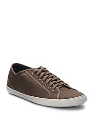 Ben Sherman Textured Lace Up Sneakers Taupe