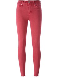 Hudson Super Skinny Jeans Red