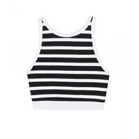 Alexander Wang Cotton Crop Top Black White