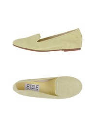 Stele Footwear Moccasins Women Light Yellow