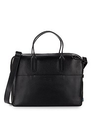 Ben Minkoff Fulton Seamed Leather Briefcase Black