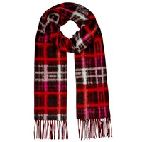 East Modern Check Scarf Red