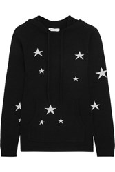 Chinti And Parker Hooded Star Intarsia Cashmere Sweater Black