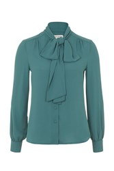Wolf And Whistle Green Bow Front Blouse
