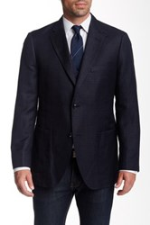 Kroon Two Button Notch Lapel Sport Coat Blue
