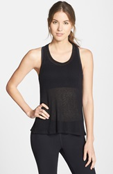 Solow Sheer Plush Knit Tank Black