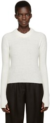 Christophe Lemaire White Wool Short Sweater