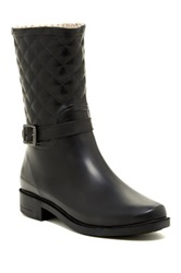 Chooka Quilted Mid Waterproof Riding Boot Black