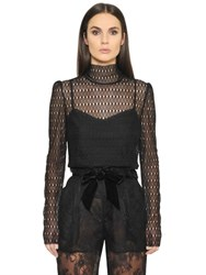 Philosophy Di Lorenzo Serafini High Collar Lace Top With Camisole