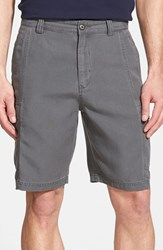 Men's Big And Tall Tommy Bahama 'Key Grip' Relaxed Fit Cargo Shorts Fog Grey