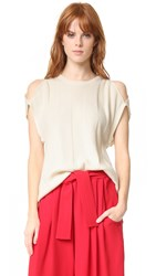 Tome Recycled Cashmere Sleeveless Sweater Ivory