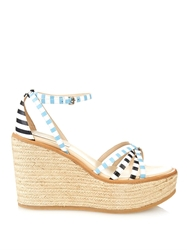 See By Chloe Striped Leather Espadrille Wedges
