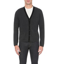 Sandro Gilet Wool Cardigan Dark Grey