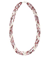 Viyella Purple Shell And Facet Necklace