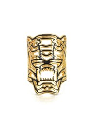 Kenzo Gold Plated Maxi Tiger Ring