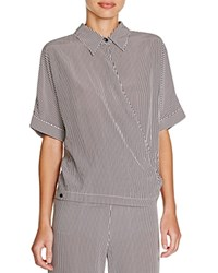 Viktoria And Woods Viktoria Woods Truth Wrap Front Shirt Icon Stripe