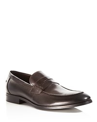 Gordon Rush Conway Penny Loafers Chocolate Suede