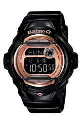 Baby G Pink Dial Digital Watch 46Mm X 42Mm Black