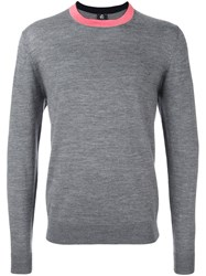 Paul Smith By Contrast Collar Sweater Grey